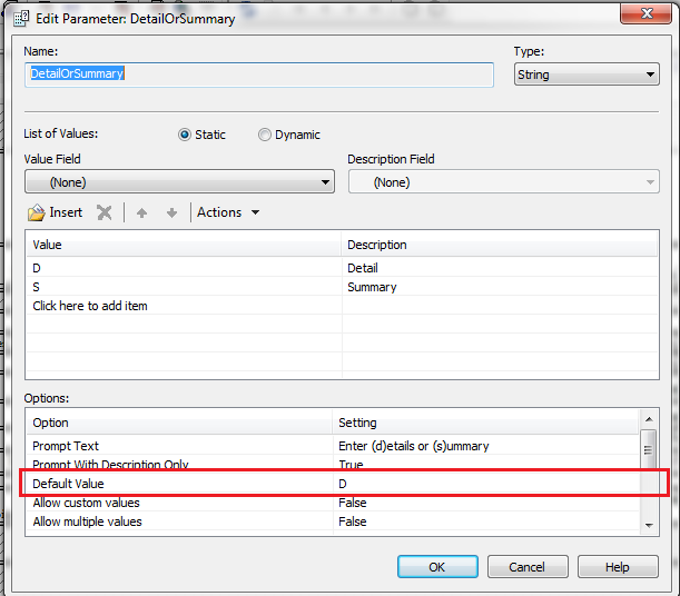 Crystal Reports – Accessing default value for a parameter using .NET SDK